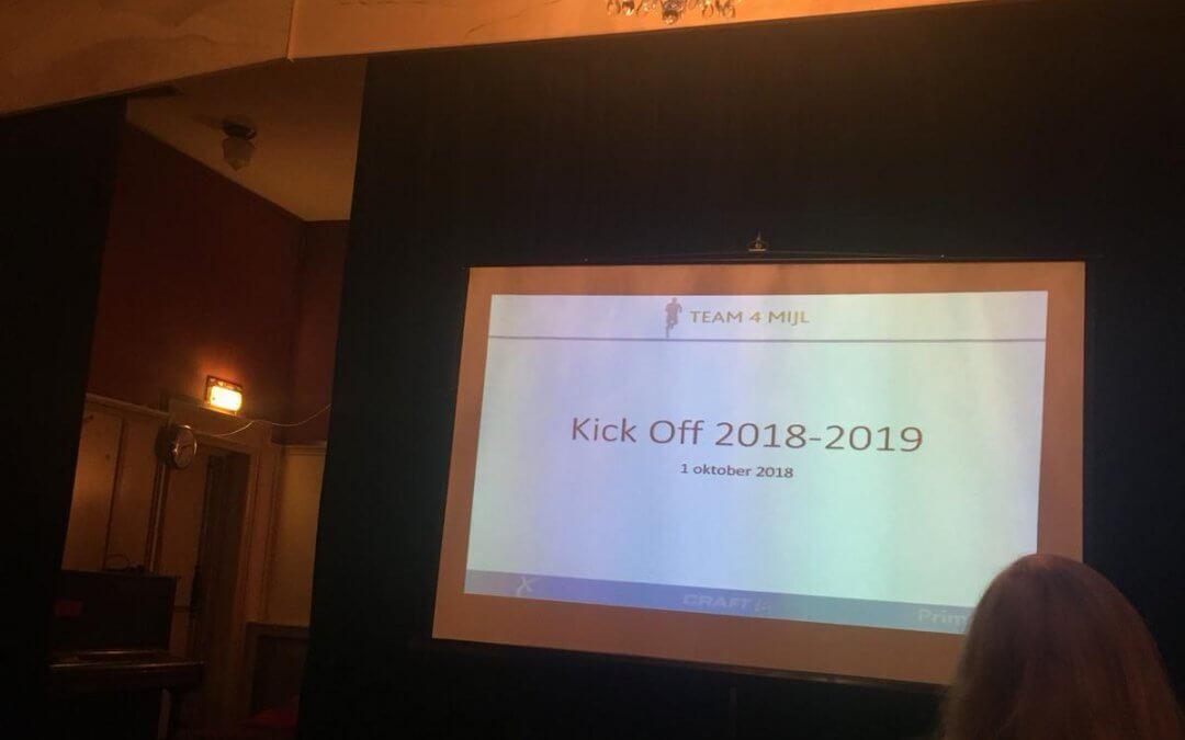 Kick-off 2018-2019: Nieuw seizoen Team 4 Mijl nu officieel van start