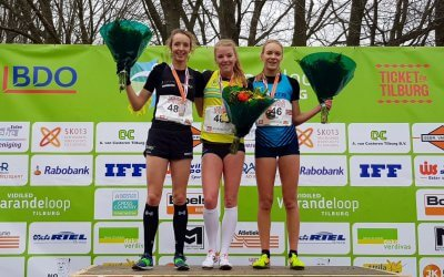 Vier maal podium op de cross
