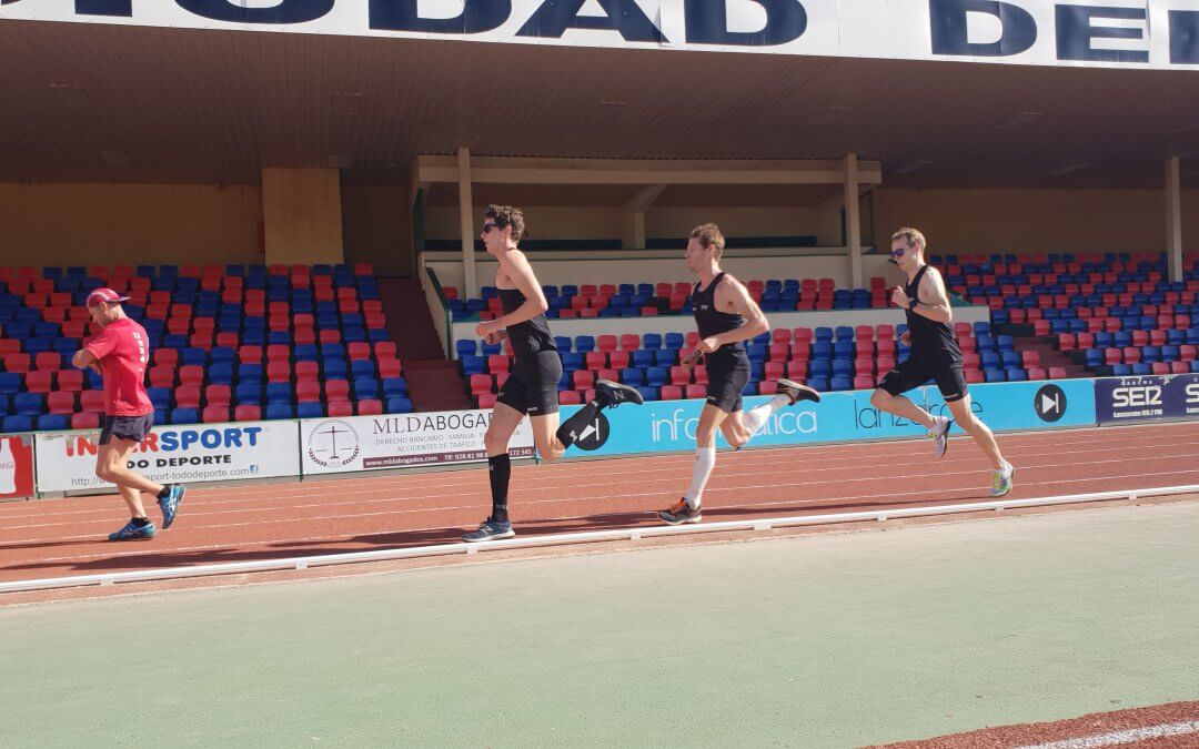 Team 4 Mijl op trainingsstage naar Lanzarote