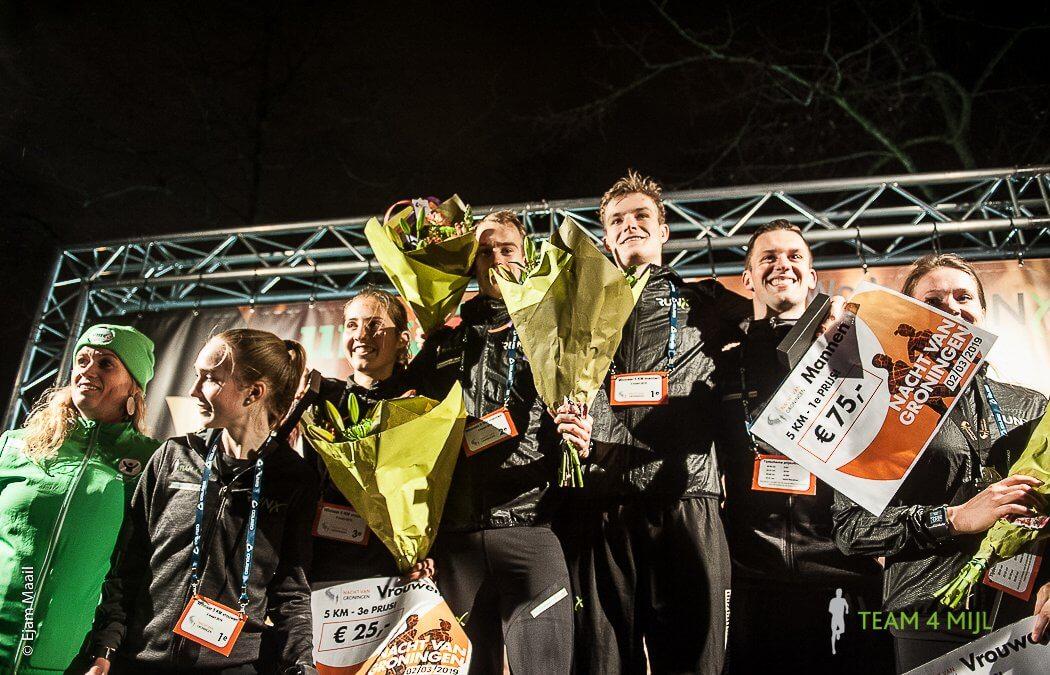 Veel eremetaal voor Team 4 Mijl bij de Nacht van Groningen