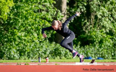 NK Atletiek: Leonie van Vliet behaalt brons
