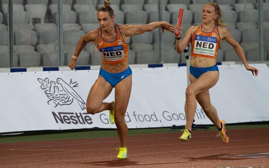 Van Vliet helpt Nederland naar de winst op de 4×100 meter